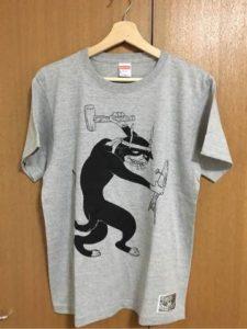 石黒亜矢子先生による「にゃういち」伊藤潤二オマージュTシャツ