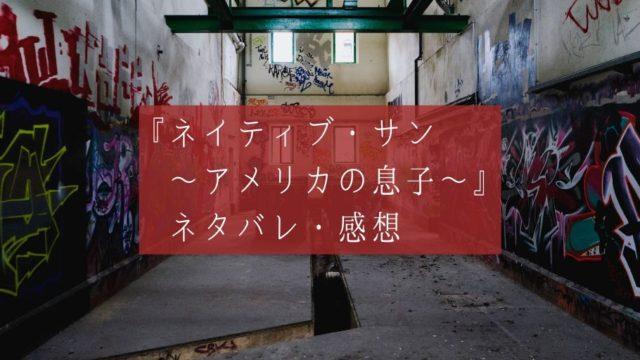 映画『ネイティブ・サン~アメリカの息子~』ネタバレ・感想